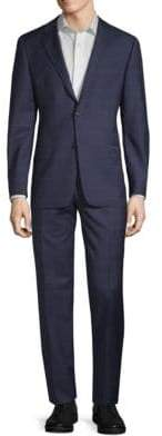 Hickey Freeman Slim-Fit Windowpane Wool Suit