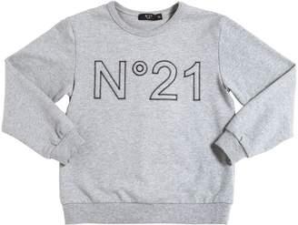 N°21 Embroidered Logo Cotton Sweatshirt