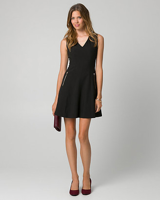 Le Château Knit V-Neck Mini Dress