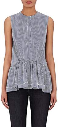 Barneys New York Women's Striped Cotton-Blend Sleeveless Blouse