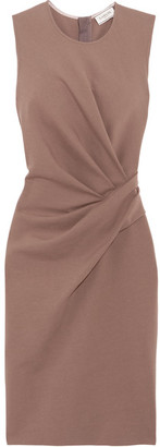 Lanvin - Gathered Stretch Cotton-blend Jersey Dress - Neutral $1,365 thestylecure.com