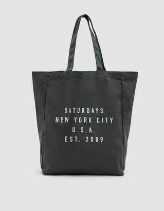 Saturdays NYC Established USA Tote in Olive