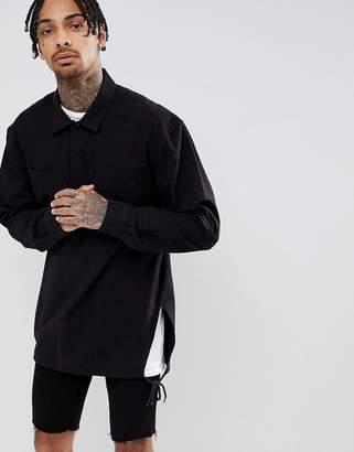 Asos DESIGN oversized overhead shirt with side splits