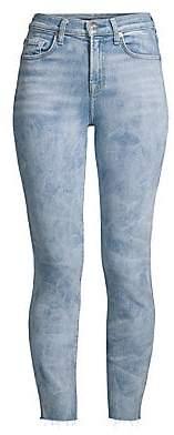 7 For All Mankind Women's Roxanne High-Waist Cut Hem Jeans