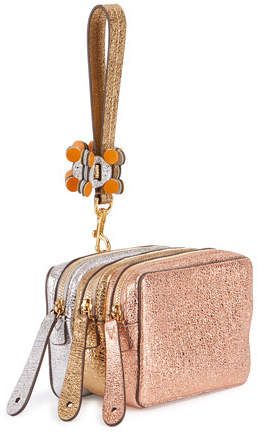 Anya Hindmarch The Stack Circulus Wristlet Bag, Pink