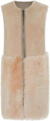 Bogner x White Cube Rita Lambskin Shearling Reversible Vest