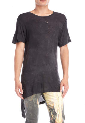 Tuesday Night Band Practice Distressed Ribbed Asymmetrical Tee