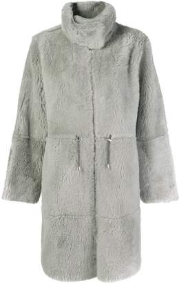 Yves Salomon oversized long reversible shearling coat
