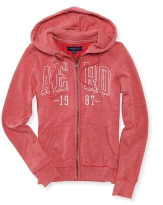 Aeropostale Womens Box Logo Hoodie Sweatshirt M