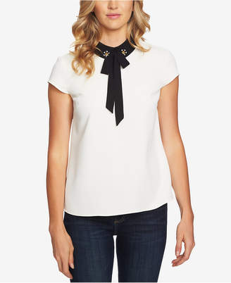 CeCe Embellished-Collar Blouse