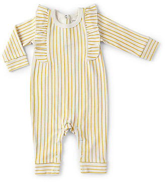Stripes Away Ruffle Romper - Marigold - Pehr