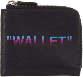 Off-White Leather Slogan Wallet