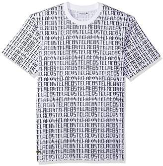 Lacoste Men's Short Sleeve All-Over Printed Jersey Tee