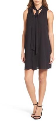 Women's Cece Tie Neck Swing Dress $119 thestylecure.com