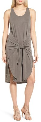 Women's Trouve Tie Front Knit Dress $79 thestylecure.com