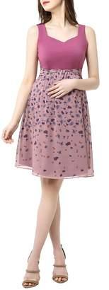Kimi and Kai Libby Print Skirt Maternity Dress