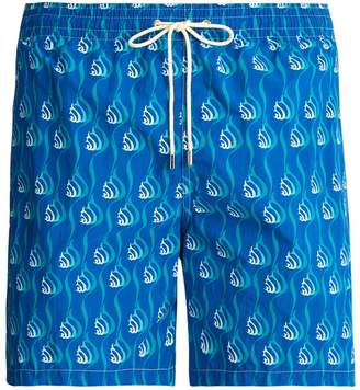 Le Sirenuse LE SIRENUSE, POSITANO Snail-print swim shorts
