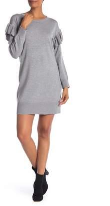 Max Studio Flutter Sleeve Knit Sweater Dress