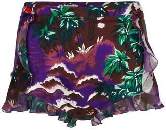DSQUARED2 Hawaiian print beach shorts