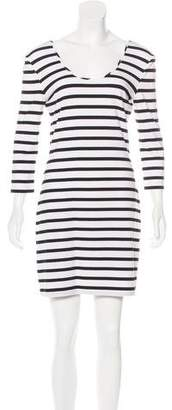 Torn By Ronny Kobo Striped Long Sleeve Dress