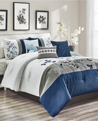 Anastasia Beverly Hills Hallmart Collectibles Closeout! 7-Pc. California King Comforter Set Bedding