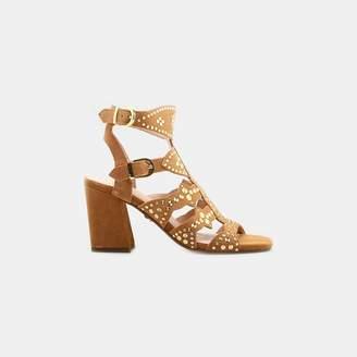 9b933fe9f50 Cecelia New York Cosmo Micro Stud Gladiator Heeled Sandal