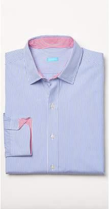 J.Mclaughlin Clinton Modern Fit Shirt in Hairline Stripes