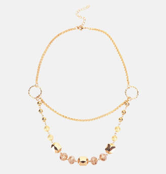 Avenue Gold Bead Double Chain Necklace