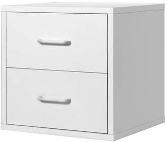 Foremost 327401 Modular 2-Drawer Cube Storage System