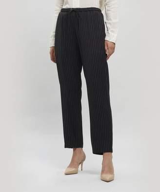 Pas De Calais Drawstring Cropped Pinstripe Trousers