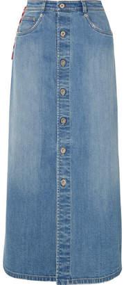 Miu Miu Denim Midi Skirt - Blue