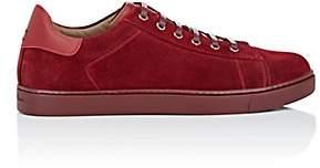 Gianvito Rossi Men's Suede Low-Top Sneakers - Red