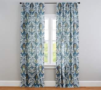 Pottery Barn Ikat Print Curtain