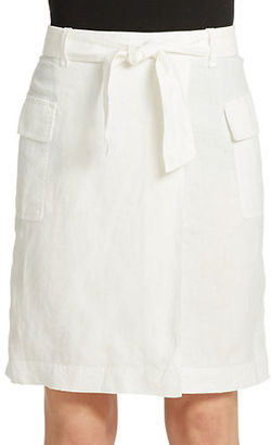 Lord & Taylor Linen Faux Wrap Skirt $80 thestylecure.com