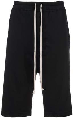 Rick Owens drop crotch track shorts