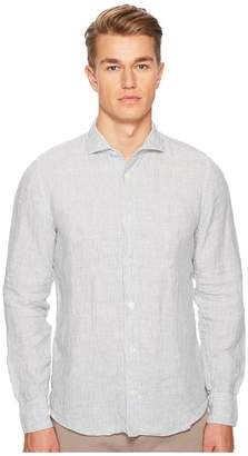 Eleventy Stripe Spread Collar Shirt