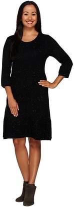 Isaac Mizrahi Live! Textured Sweater Dress