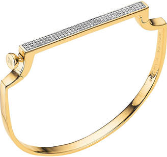 Monica Vinader Signature 18ct yellow-gold vermeil and diamond bangle