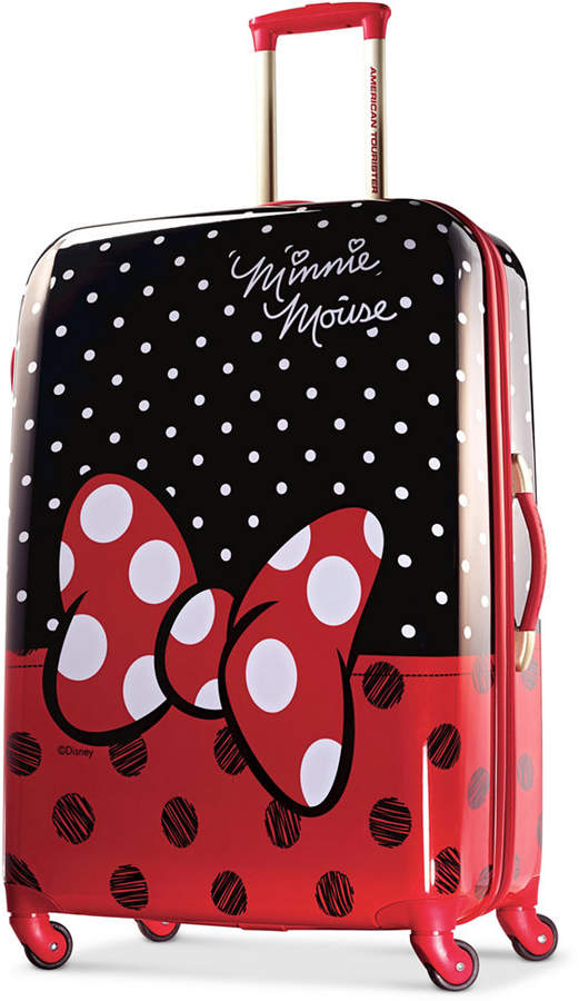 """DisneyDisney Minnie Mouse Red Bow 28"""" Hardside Spinner Suitcase by American Tourister"""