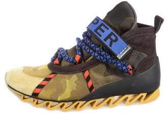 Bernhard Willhelm Paneled Hiking Boots