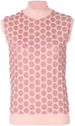 Marni spotted sleeveless turtle neck sweater
