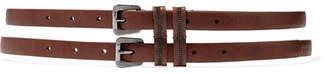 Brunello Cucinelli Bead-embellished Leather Belt - Brown