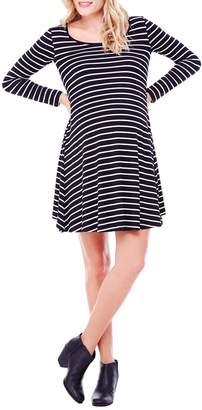 Ingrid & Isabel Stripe Long Sleeve Trapeze Dress