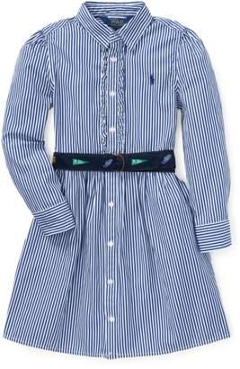 Ralph Lauren Kids Belted Cotton Shirtdress