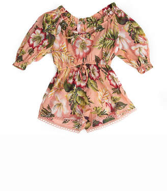 Zimmermann Kids Kali Tropical Playsuit