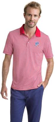 Vineyard Vines New England Patriots Throwback Icon Porter Stripe Polo
