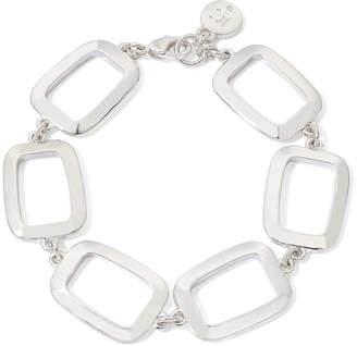 Liz Claiborne Silver-Tone Box Flex Bracelet