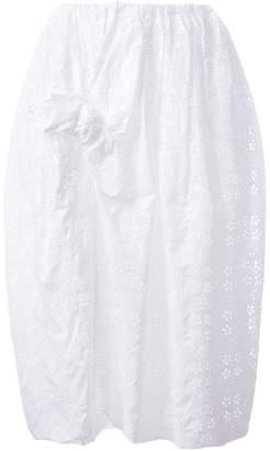 Simone Rocha front bow eyelet skirt