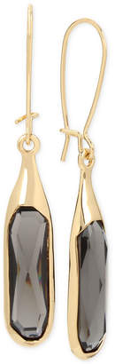 Robert Lee Morris Soho Gold-Tone Jet Stone Sculptural Drop Earrings
