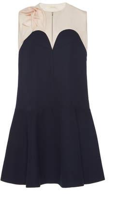 DELPOZO Two-Tone Mini Dress